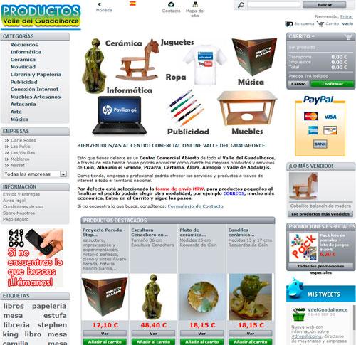 tienda online centro comercial prestashop