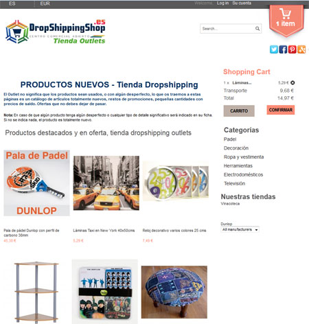 tienda outlets dropshipping