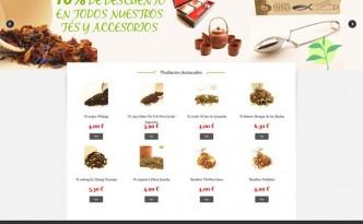 tienda online de te creada en prestashop