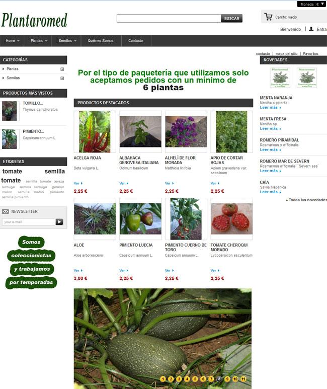 Tienda de semillas y plantas aromáticas y medicinales