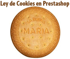ley cookies prestashop