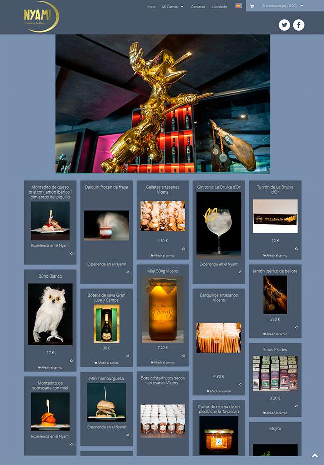 diseño de tienda online con prestashop estilo Pinterest