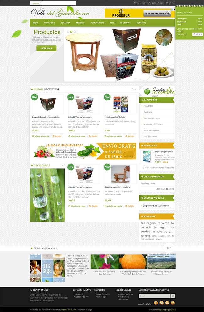 Rediseño de tienda online en Prestashop 1.5.6