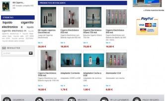 diseño de tienda online de cigarrillos electrónicos